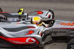 Lewis Hamilton am Malaysian F1 Lizenzfreies Stockbild