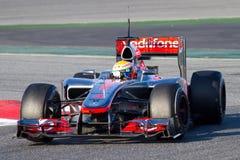 Lewis Hamilton (McLaren) lizenzfreie stockfotografie