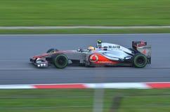 Lewis Hamilton McLaren-Mercedes Fotografia Stock