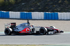 Lewis Hamilton McLaren Mercedes des Teams lizenzfreie stockfotos