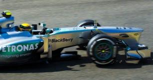 Lewis Hamilton Mercedes Fotografia Stock Libera da Diritti