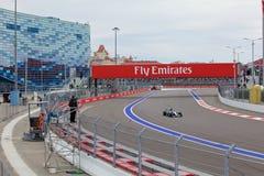 Lewis Hamilton of Mercedes AMG Petronas. Formula One. Sochi Russia Royalty Free Stock Photo