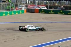 Lewis Hamilton of Mercedes AMG Petronas. Formula One. Sochi Russia. Sochi, Russia - September 30, 2018: Lewis Hamilton of Mercedes AMG Petronas F1 team racing stock images