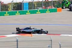 Lewis Hamilton of Mercedes AMG Petronas. Formula One. Sochi Russia. Sochi, Russia - September 30, 2018: Lewis Hamilton of Mercedes AMG Petronas F1 team racing royalty free stock photo