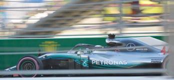Lewis Hamilton of Mercedes AMG Petronas. Formula One. Sochi Russia. Sochi, Russia - September 30, 2018: Lewis Hamilton of Mercedes AMG Petronas F1 team racing stock photos