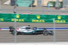Lewis Hamilton of Mercedes AMG Petronas. Formula One. Sochi Russia. Sochi, Russia - September 30, 2018: Lewis Hamilton of Mercedes AMG Petronas F1 team racing stock image