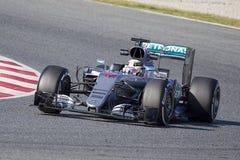 Lewis Hamilton Mercedes 2016 Stock Photos