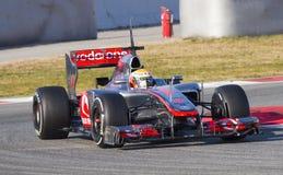 Lewis Hamilton racing Stock Photography