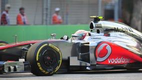 Lewis Hamilton tävlings- F1 Singapore GP Arkivfoto