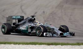 Lewis Hamilton van Mercedes Royalty-vrije Stock Afbeeldingen