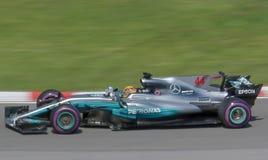 Lewis Hamilton vince 2017 il canadese Gran Prix immagine stock libera da diritti