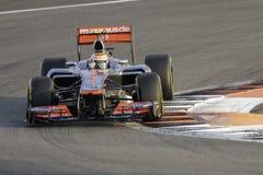 Lewis Hamilton Vodafone Mclaren MP4-27 Stock Photos