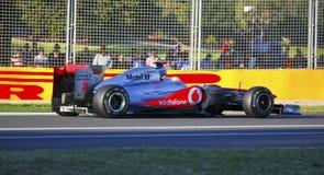 Lewis Hamilton y McLaren Fotos de archivo