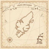 Lewis and Harris old treasure map. Royalty Free Stock Photo