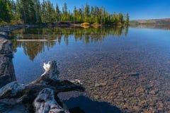 Lewis Lake, Wyoming foto de archivo