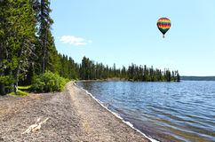 The Lewis Lake in the Yellowstone Stock Photo