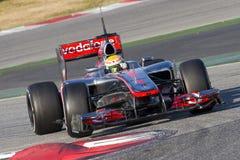 Lewis mcLaren Hamilton F1 Zdjęcia Royalty Free