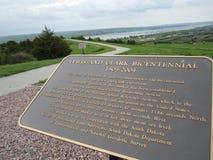 Lewis och Clark Bicentennial tecken Arkivbild