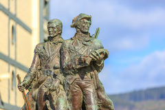 Lewis och Clark Statue i sjösidan, Oregon Royaltyfria Foton