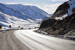 Lewis Pass Road, South Island, New Zealand Royalty Free Stock Images
