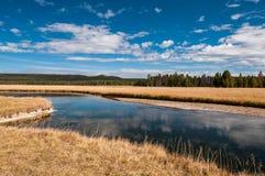Lewis River i den Yellowstone nationalparken Royaltyfri Fotografi