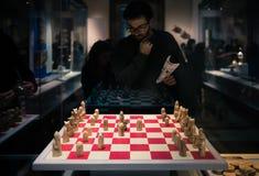 Lewis schackpjäser på skärm Royaltyfri Foto
