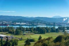 Lewis und Clark Bridge lizenzfreies stockbild