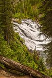Lewis Watrefall in yellowstone National PArk. Lewis Lake in Yellowstone National Park in Wyoming stock photo