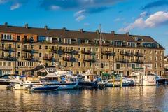 Lewis Wharf, sur le bord de mer de North End, à Boston, la masse Image stock
