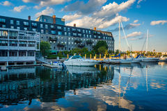 Lewis Wharf, on the waterfront of the North End, in Boston, Mass Stock Image