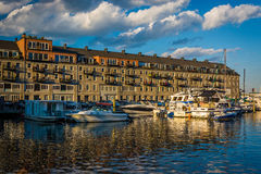 Lewis Wharf, on the waterfront of the North End, in Boston, Mass Royalty Free Stock Photos