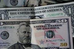UDS DOLLAR 50 AND 20 AND 1 DOLLAR BILL. Lewiston /Idaho/USA./ 15 May 2019/ USA dollars 50 and 20 and 1 dollar bills in Lewiston  valley in Lewiston Idaho. USA royalty free stock photography