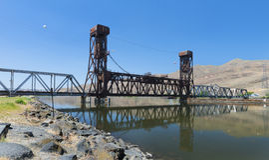 Lewiston's Bridge Royalty Free Stock Image