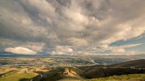 Lewistown Idaho y ríos desde arriba foto de archivo libre de regalías
