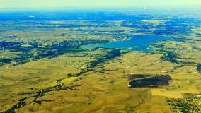 Lewisville sjö från överkant Arkivfoton