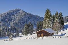 Lexen hut in Benediktenwand area Stock Photos