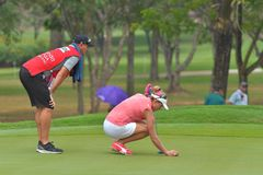 Lexi Thompson in Honda LPGA Thailand 2018. Lexi Thompson of USA in Honda LPGA Thailand 2018 at Siam Country Club, Old Course on February 24, 2018 in Pattaya Royalty Free Stock Images