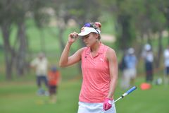 Lexi Thompson in Honda LPGA Thailand 2018. Lexi Thompson of USA in Honda LPGA Thailand 2018 at Siam Country Club, Old Course on February 24, 2018 in Pattaya Royalty Free Stock Photo