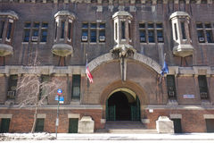 Lexington Avenue Armory. The Lexington Avenue Armory, a National Historical Landmark in New York, which houses the U.S. 69th Infantry Regiment, and is also used Royalty Free Stock Photo