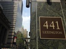 441 Lexington Avenue. Stock Photos