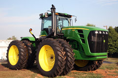 LEXINGTON, KY-CIRCA JANUARY, 2015: John Deere tractor on display. Large agribusinesses increasingly turn to large equipment like stock images