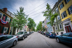 Lexington Street, in Bunker Hill, Charlestown, Boston, Massachus Stock Image