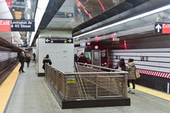 Lexington und 63. Straßen-U-Bahnstation Stockfotografie