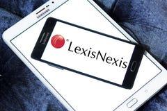 LexisNexis corporation logo. Logo of LexisNexis corporation on samsung mobile. LexisNexis Group is a corporation providing computer-assisted legal research as Royalty Free Stock Photo