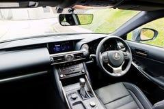 Lexus ÄR inre 200t 2017 Arkivfoto