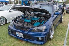 Lexus È motore 2001 su esposizione Fotografie Stock