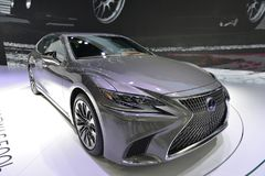 LEXUS All New LS500h saloon car Stock Photo