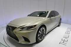LEXUS All New LS350h saloon car Royalty Free Stock Photo