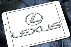 Lexus car logo. Logo of lexus car brand on samsung tablet Stock Photo