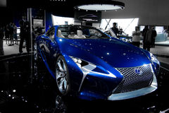 Lexus Concept Car in Blue. Lexus  Concept Coupe super car on display Royalty Free Stock Photos
